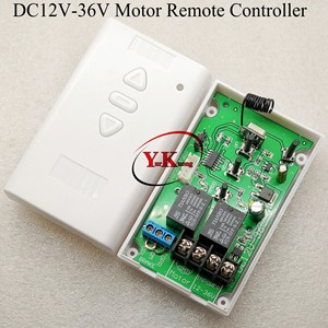 Image 4 - AC DC Motor Remote Switch Controller 12V 24V 36V Motor Forwards Reverse Up Down Wall Transmitter Manual Button Limit  Switch