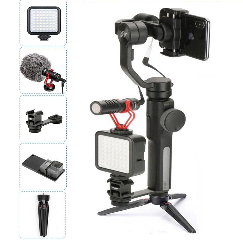 В наличии Smooth 4 ручной телефон видео стедикам стабилизатор bluetooth 3 ось gimbal поддержка вертикального selfie съемки для iphone X 7 Andriod