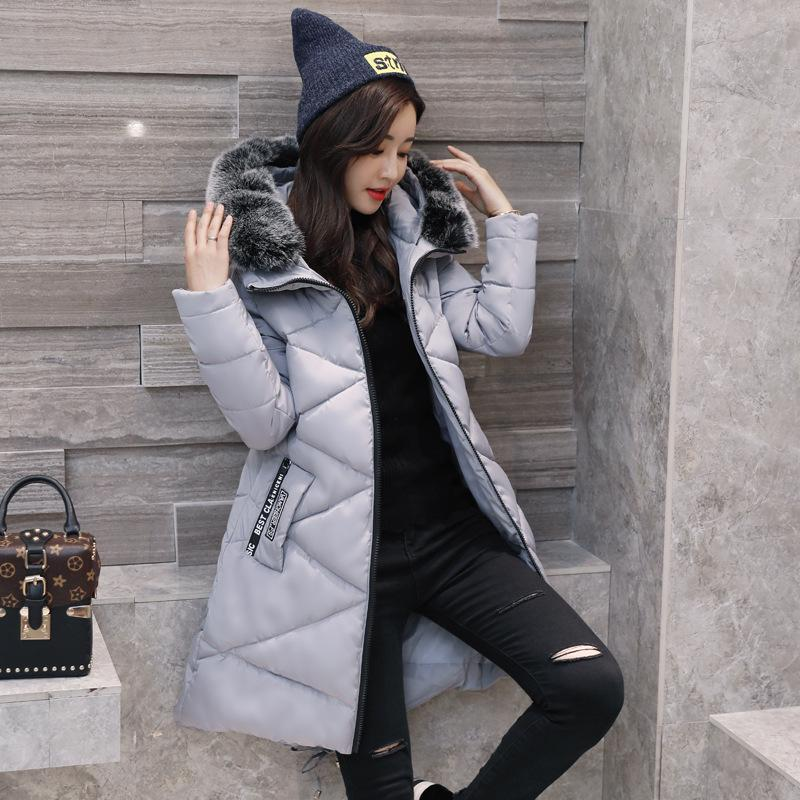 2017 New Winter Women Down Jackets Solid Fashion Thicken Coats Slim Hooded Duck Long Down Parka Warm Coats Plus Size