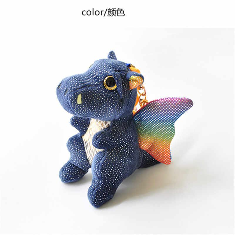 10 CENTÍMETROS bonito Voando dragão de brinquedo de pelúcia boneca chaveiro engraçado da novidade dos desenhos animados animal keychain presente pingente de pelúcia brinquedos para as crianças