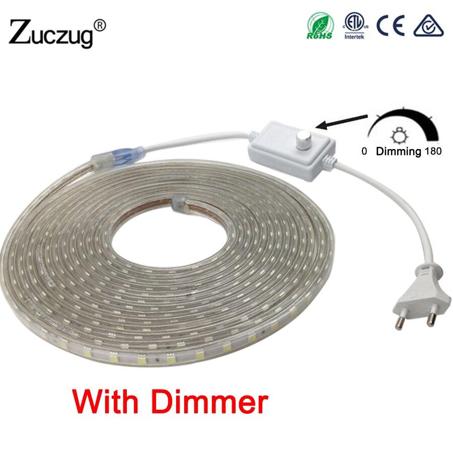 led-strip-220-v-volt-dimmable-5050-ac-220v-flexible-light-1m-2m-3m-4m-5m-10m-15m-20m-dimmer-plug-60leds-m-waterproof-led-tape