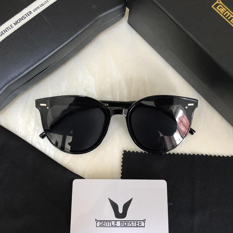2019 Gentle Monster Women Sunglasses East Moon Fashion Lady Elegant Cat Eye Sunglass Woman Vintage Sun Glasses Original Oculos