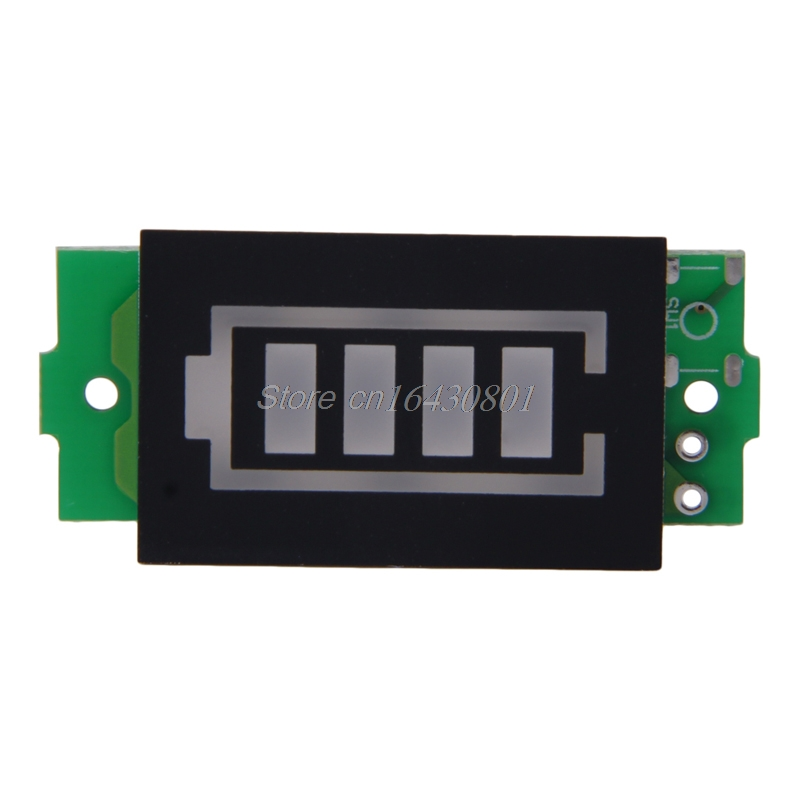 1S Single 3.7V Lithium Battery Capacity Indicator Module 4.2V Blue Display Electric Vehicle Battery Power Tester Li-po Li-ion 2016 new lithium battery battery capacity indicator lcd digital percentage residual capacity display