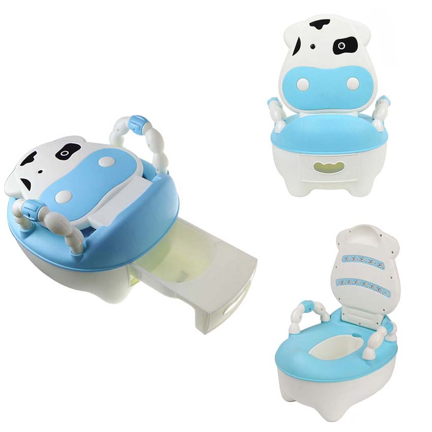 Cartoon Baby Plastic Toilet Girls Boy Portable Potty Seat Folding Chair Cute Drawer Training Potty Children's Toilet Ring Pinico new baby potty portable cute cartoon musical kids toilet cars children s pot wc child potty chair training girls boy toilet seat