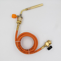 Mapp Oxygen Free Welding Torch Welding Tool Copper Spray Torch With 1.5M Hose For Melting Ice Thawing Pipes Eliminating Weeds