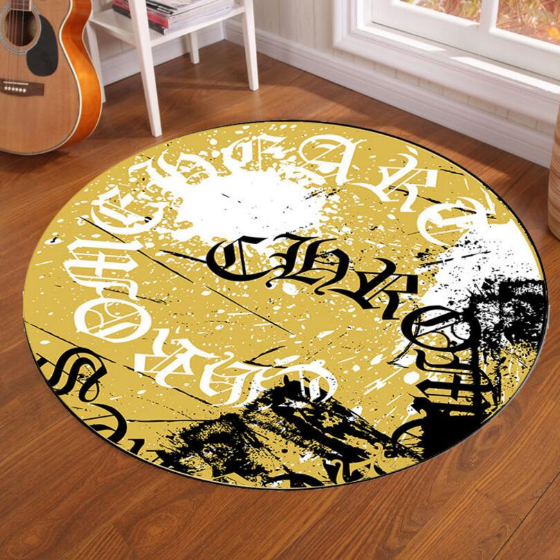 Household Hanging chair Round Carpet Dining room Living Room Floor Mat Kids Bedroom Tea Table Rug Anti-skid Foot Pad Washable