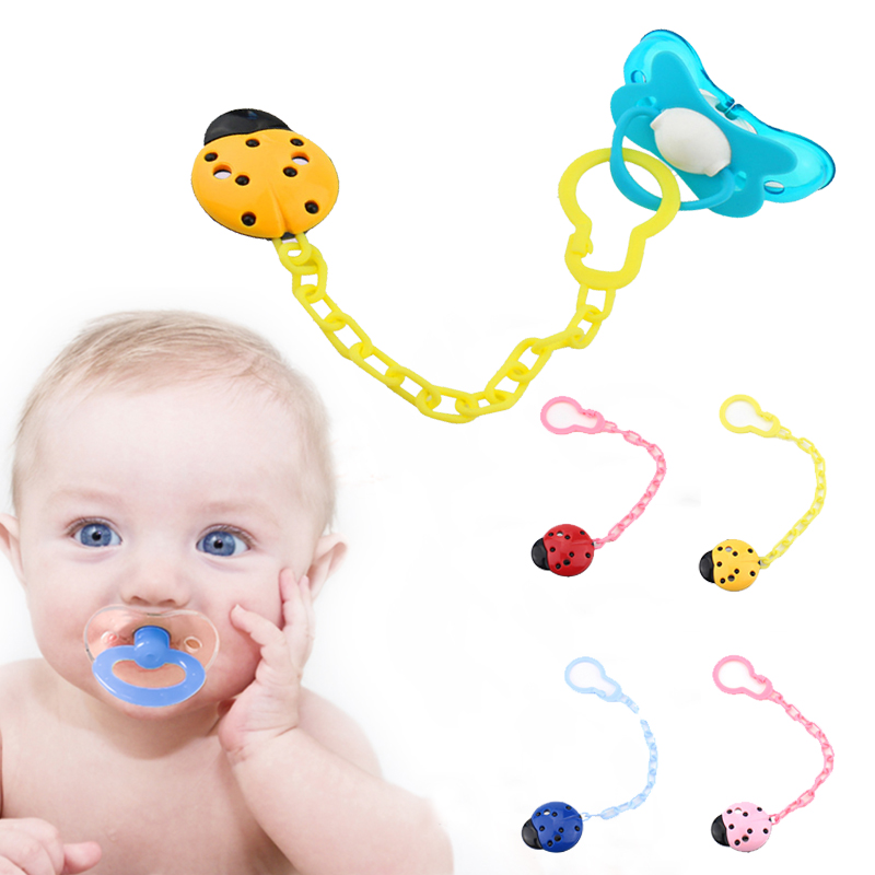 1Pc Fun Dummy Clip Baby Soother Clips Chain Holder Pacifier Strap Toys Hot LA