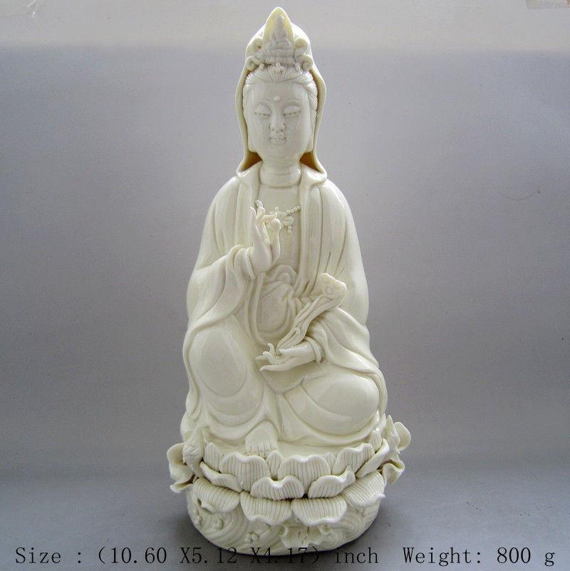 Dehua white porcelain guanyin mercy bodhisattva statue in China