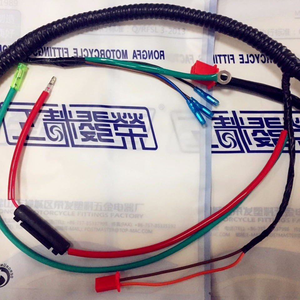 Motorcycle Harness Wire BAJAJ BOXER Whole Wiring ... on
