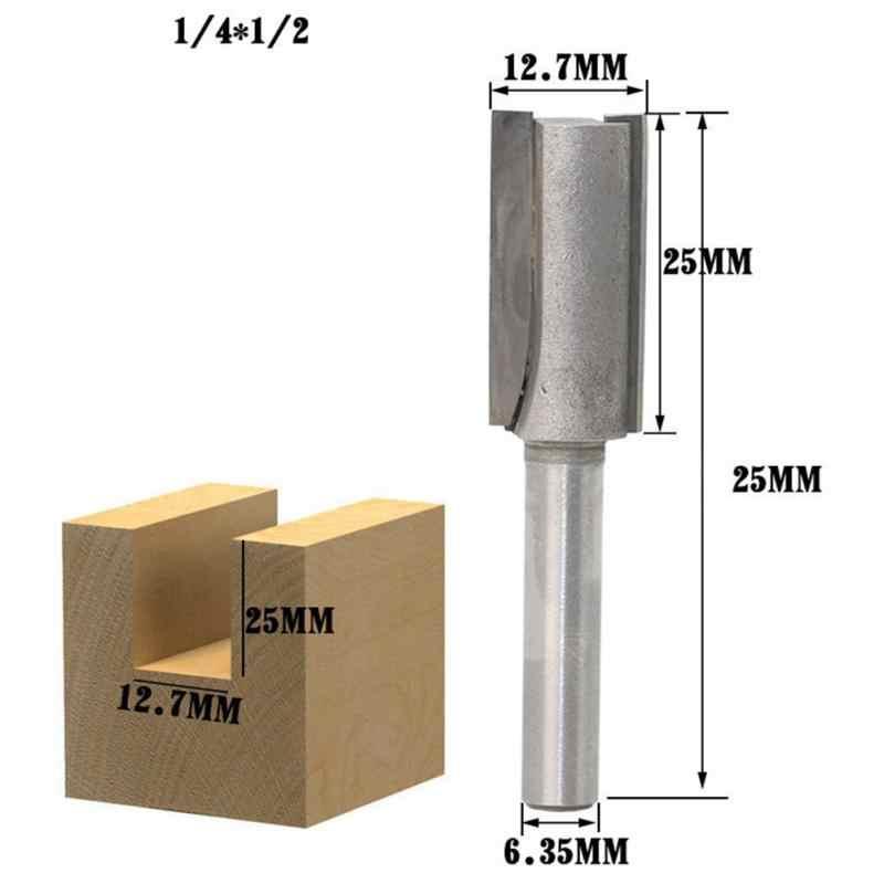 tipo 5 cortador de carpinter/ía con cojinete superior 3Flute con v/ástago de 6 mm Broca para fresado de ajuste recto