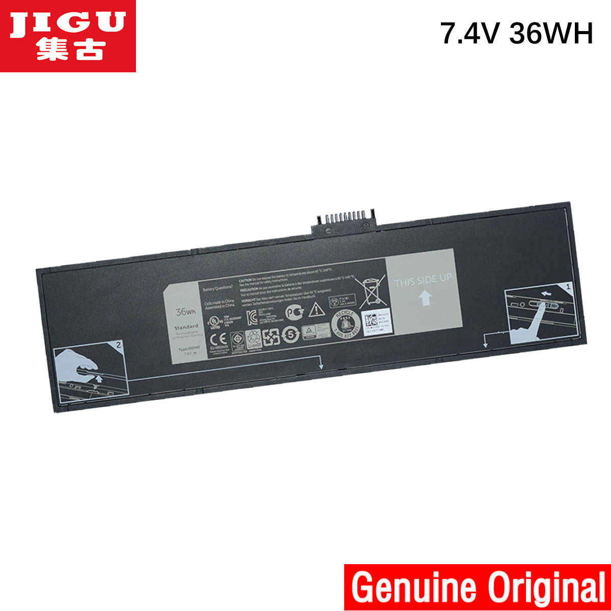 JIGU HXFHF Original Laptop <font><b>Battery</b></font> For <font><b>DELL</b></font> Venue 11 Pro (7130) 11 Pro (7139) 11 Pro <font><b>7140</b></font> image