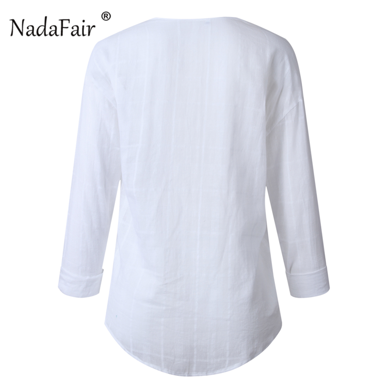 cotton white casual blouse women02