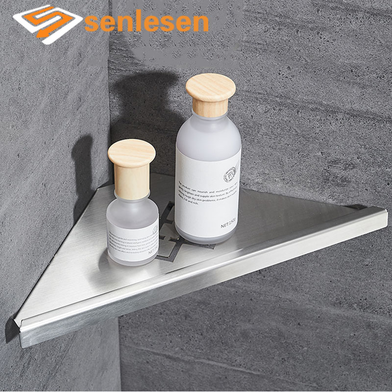 Bathroom shelves stainless steel shower corner shelf wall - Bathroom shelves stainless steel ...