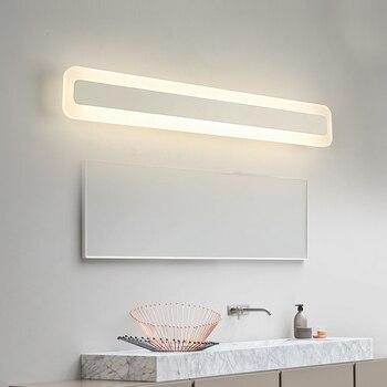 New modern Cosmetic wall lamp  40/60/80/100/120cm  acrylic led mirror light for wash room ,bathroom, bedroom