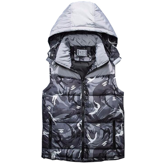Cheap wholesale 2016 new Hooded winter camouflage down vest male of cultivate one's morality