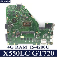 KEFU X550LC Laptop motherboard for ASUS X550LC X550LD A550L Y581L W518L X550LN Test original mainboard 4GB-RAM I5-4200U GT720M