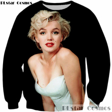 PLstar Cosmos Hot sale sex goddess Marilyn Monroe 3d Sweatshirt Men Women Long Sleeve Outerwear 2017 Fashion Crewneck Pullovers