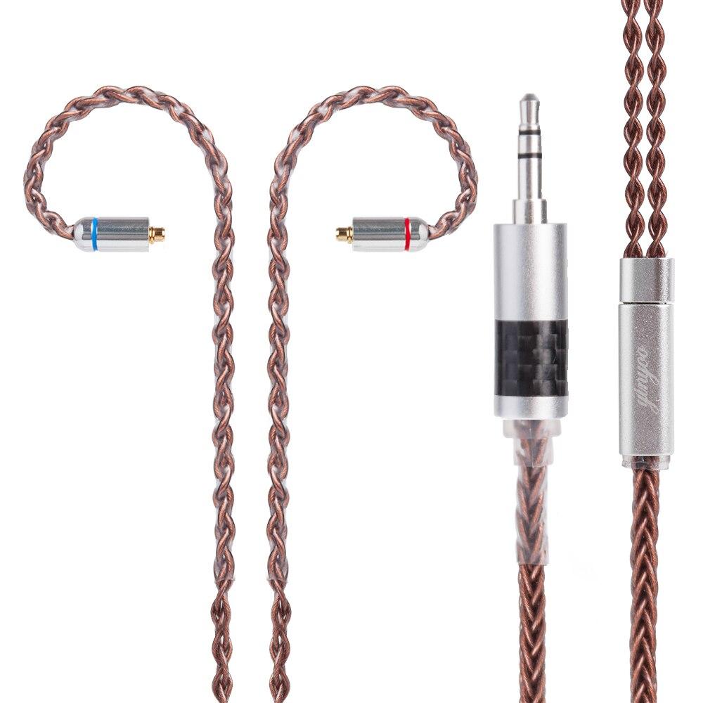 Yinyoo 8 Core Étamé Cuivre Câble 2.5/3.5/4.4mm Câble Équilibré Avec MMCX/2pin Connecteur pour LZ A5 Sony Yinyoo KZ ZS10 ZSA