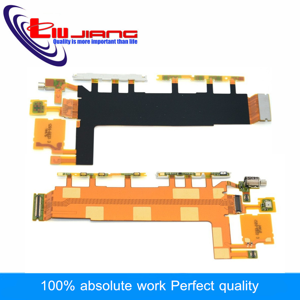 Liujiang Original Power Button Flex Cable Volume Switch Flex with Microphone Vibrator for Sony Z3 D6653 D6603