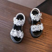 2018 new children's shoes diamond girl princess flowers summer sandals super soft and comfortable 4-16 years old