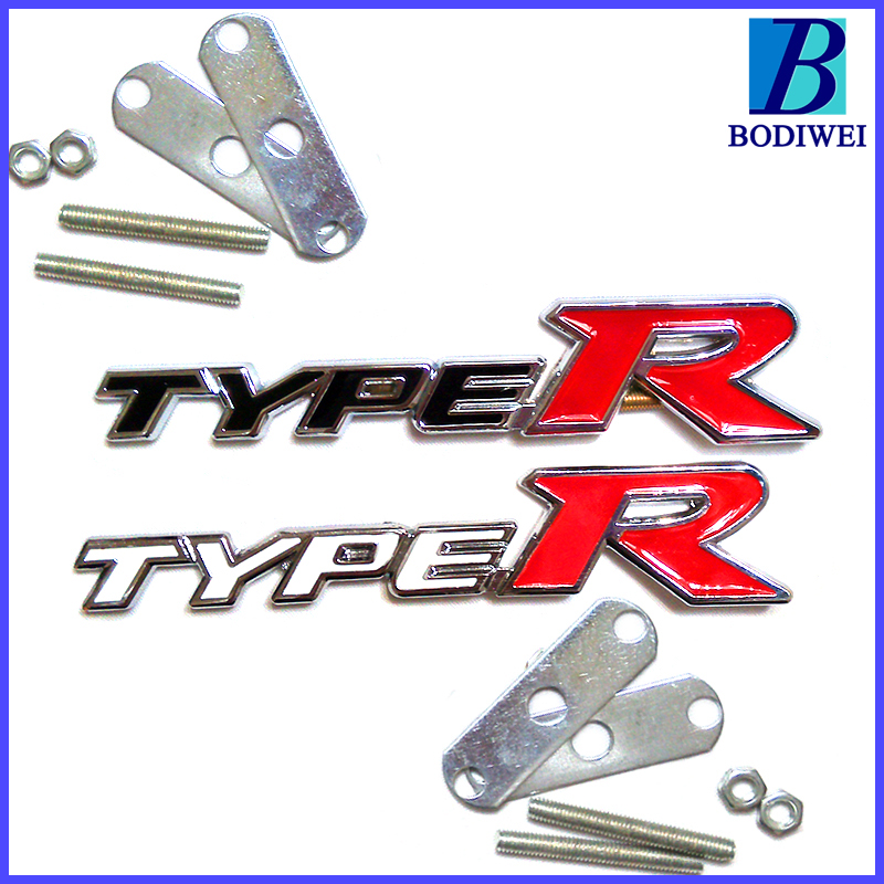 Auto styling 3d metal TYPE R grille sticker emblem badge door Chromium Styling Accessories Mugen