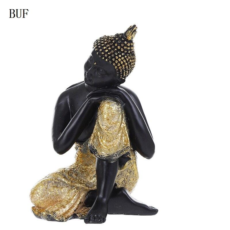 BUF Buddhism Adornment Buddha Tathagata Statue Thailand Yoga Mandala Buddha Sculptures Resin Craft Amitabha Buddha Statue