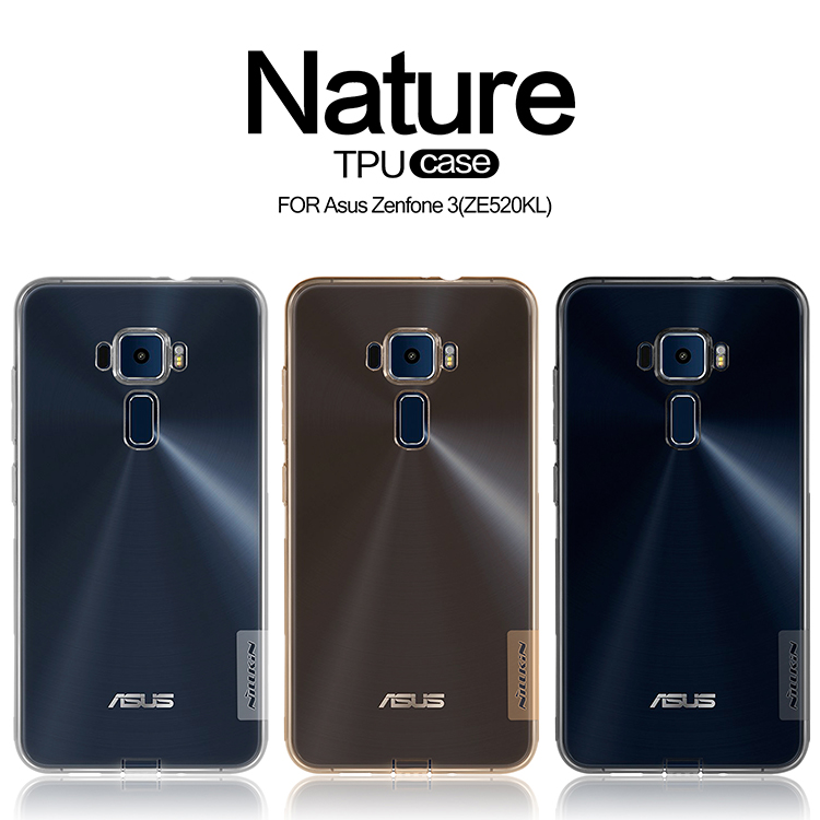 Nillkin Nature Transparent Clear Soft silicon TPU Protector case cover for Asus Zenfone 3 ZE520KL (5.2inch) TPU case