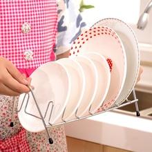 2PCS New Stainless Steel Kitchen Accessories Desktop Dish Rack Plates Drainer Drying Rack Dishes Dinnerware Shelf Storage Rack