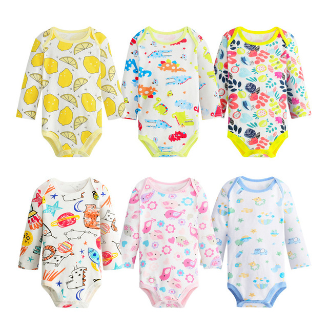 46b20799a4bf Retail Drop Shipping Baby Clothes Cotton Printed Baby Girl Boy Rompers Long  Sleeve Jumpsuit Kids Play Wear Cute Baby Romper LT10
