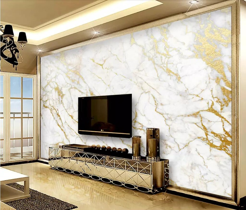 gold and white room