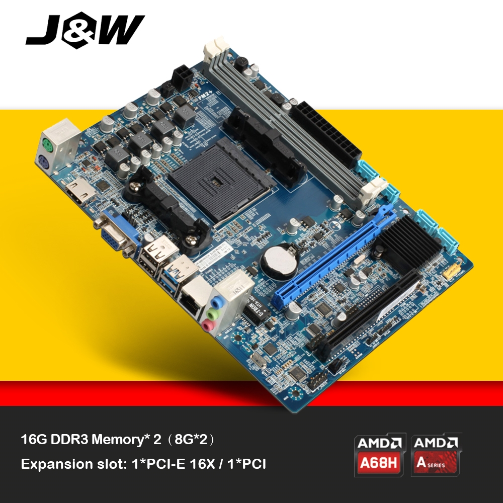 JW A68HM-D2H Motherboard socket FM2/FM2+ DDR3 Board for Computer Desktop board VGA/HDMI/USB2.0/PCI-E 3.0/PCI-E X16/SATA/USB 3.0 commercial non grounding floor socket rushed sale livolo tomada av up desktop hdmi vga usb internet office furniture socket