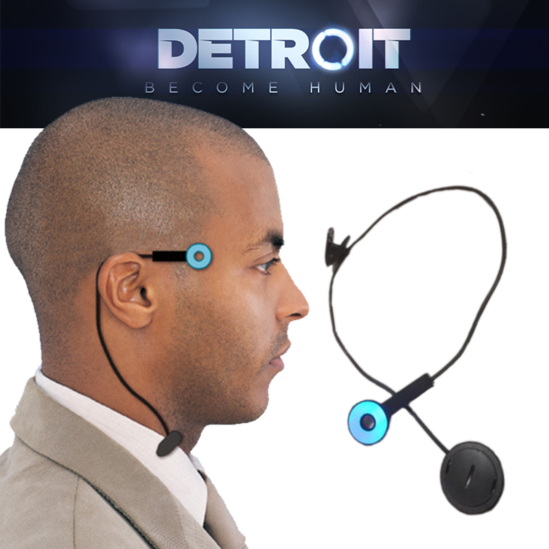 Detroit : Become Human Cosplay Connor Wireless Temple Led Light RK800 Halloween Party Status Light Props Headwear Accessories