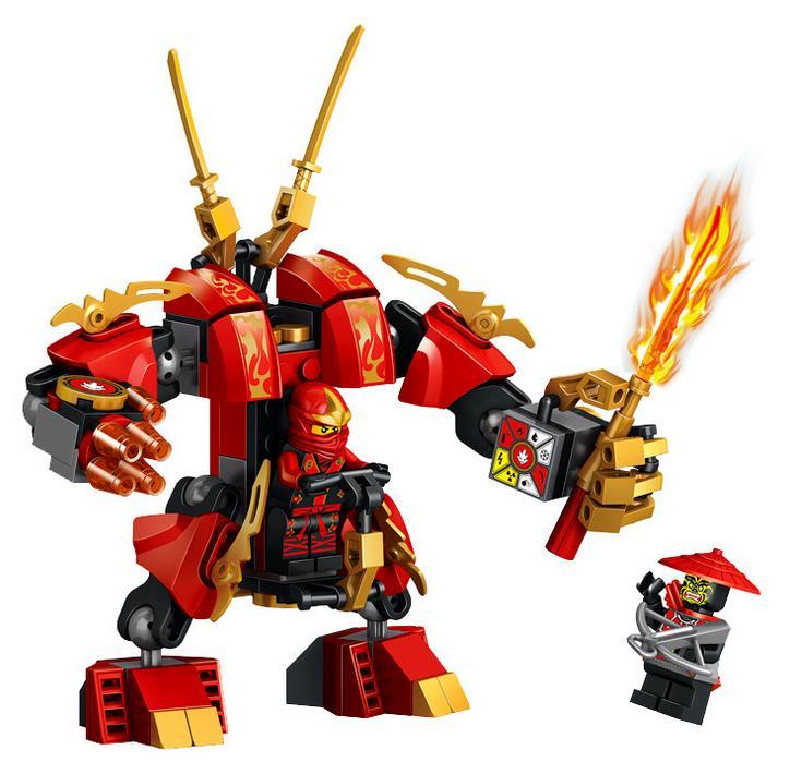 2017 Nouveau Ninja Kais Feu Mech Kay Flamme Mecha Robot Blocs de Construction Jouets Figure Meilleur Cadeau De Enfants Compatible avec