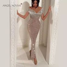 Angel Novias Long Mermaid Evening Dresses 2018