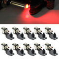 EE support 10 Pcs 12V 20A  Colors LED Light Toggle Switch Carbon Fiber Switch SPST Motorcycle Racing Auto Car Styling XY01