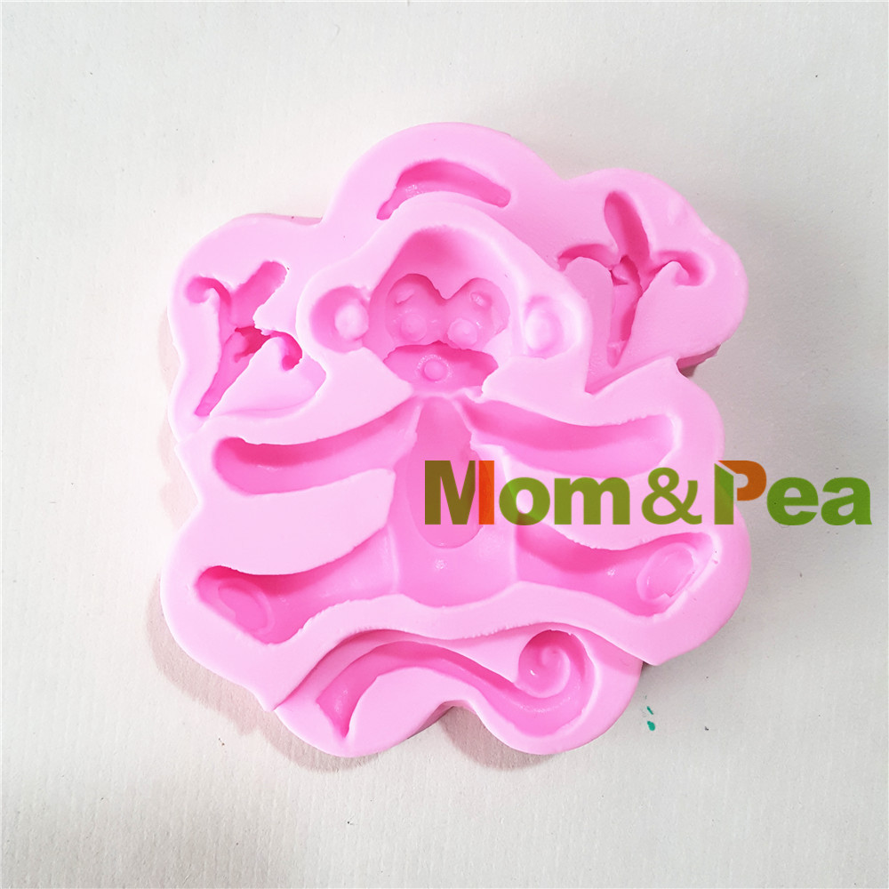 Ladyada's Store MomPea 1364 Free Shipping Monkey Silicone Mold Cake Decoration Fondant Cake 3D Mold Soap Mold Food Grade