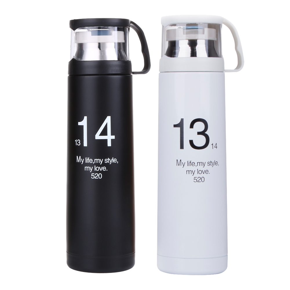 Outdoor Portable 500ml 13&14 <font><b>Cans</b></font> Mug Simple Student <font><b>Drinking</b></font> <font><b>Cup</b></font> Stainless Steel Sports Bottle NG4S
