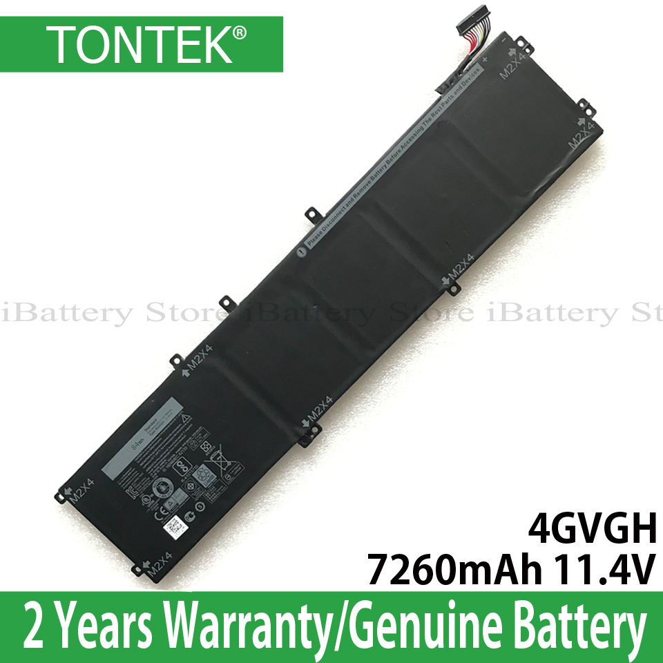 Genuine 4GVGH Battery For Dell XPS 15 9550 Precision 15 5510 P56F Series 1P6KD 7260mAh 11.4V