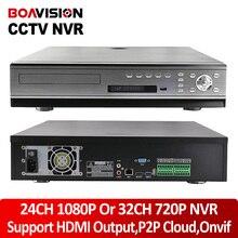 2U Profession CCTV ONVIF NVR 24Ch Video Recorder Support 24Ch 1080P / 32Ch 960P /16Ch 720P P2P Cloud 16Ch Alarm HDMI 8x Sata HDD