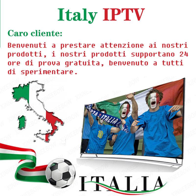 IPTV Italy M3U Subcription 6 Month 12 Month 3700 Channels Cinema News Kids Music DAZN Xky Sport Support IPTV Box Android H96 Max