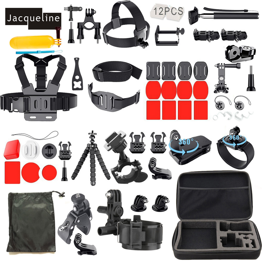 Jacqueline for Gopro hero 5 Accessories Kit Set Mount for Gopro for Go pro Hero 6 5 4 session 3+ 3 2 for Yi action 12 70mm 10mw 30mw 50mw 100mw 150 200mw 532nm green dot line cross focusable laser diode module