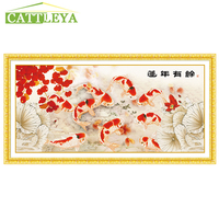 CATTLEYA 5D Diamond Painting Fish Diy Diamond Embroidery Chinese Style Pray For Wealth Accumulation