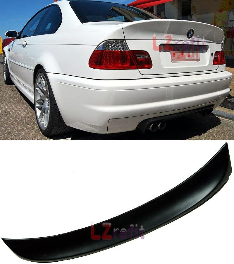Becquet de coffre non peint CLS plus grande lèvre de coffre pour BMW série 3 E46 coupé 2 portes 1998-2005