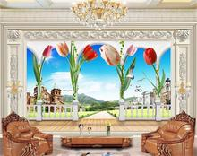 custom 3d photo wallpaper kids room mural 3d Science fiction dolphin painting TV background non-woven wallpaper for wall 3d