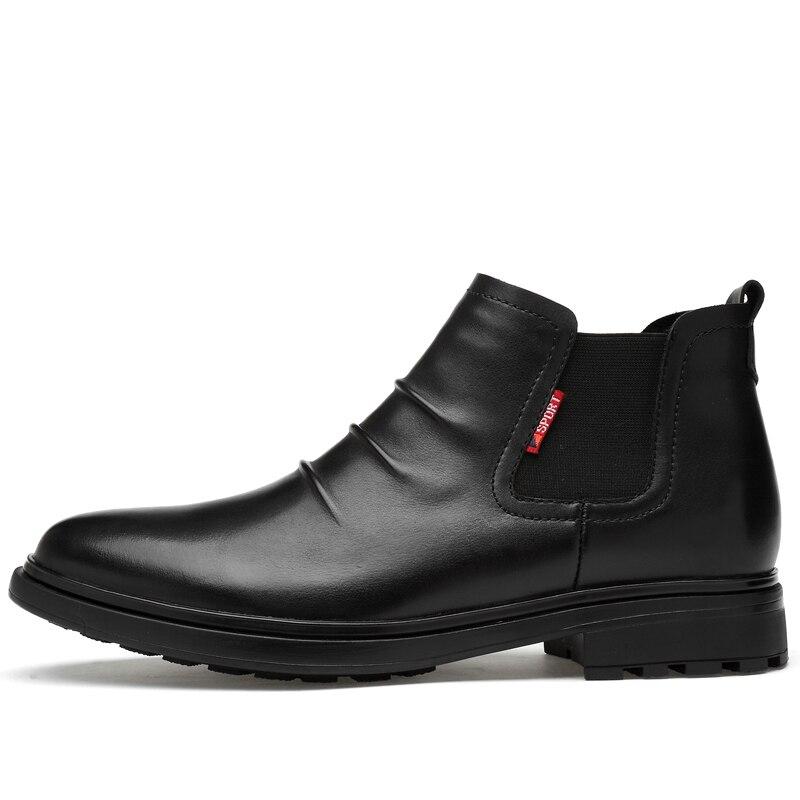 Automne Véritable black Nouveau Taille High Chaud Top Cuir De En With Hommes Black Grande Occasionnels hiver Fur Fur Bottes Martin Chaussures Cheville No x0PRx