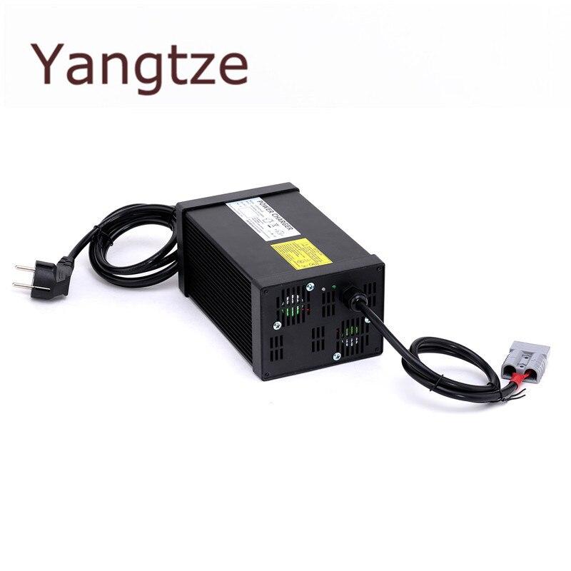 цена на Yangtze Auto-Stop 63V 12A 11A 10A Lithium Battery Charger For 55.5V Li-Ion Lipo Battery Pack AC DC Power Supply