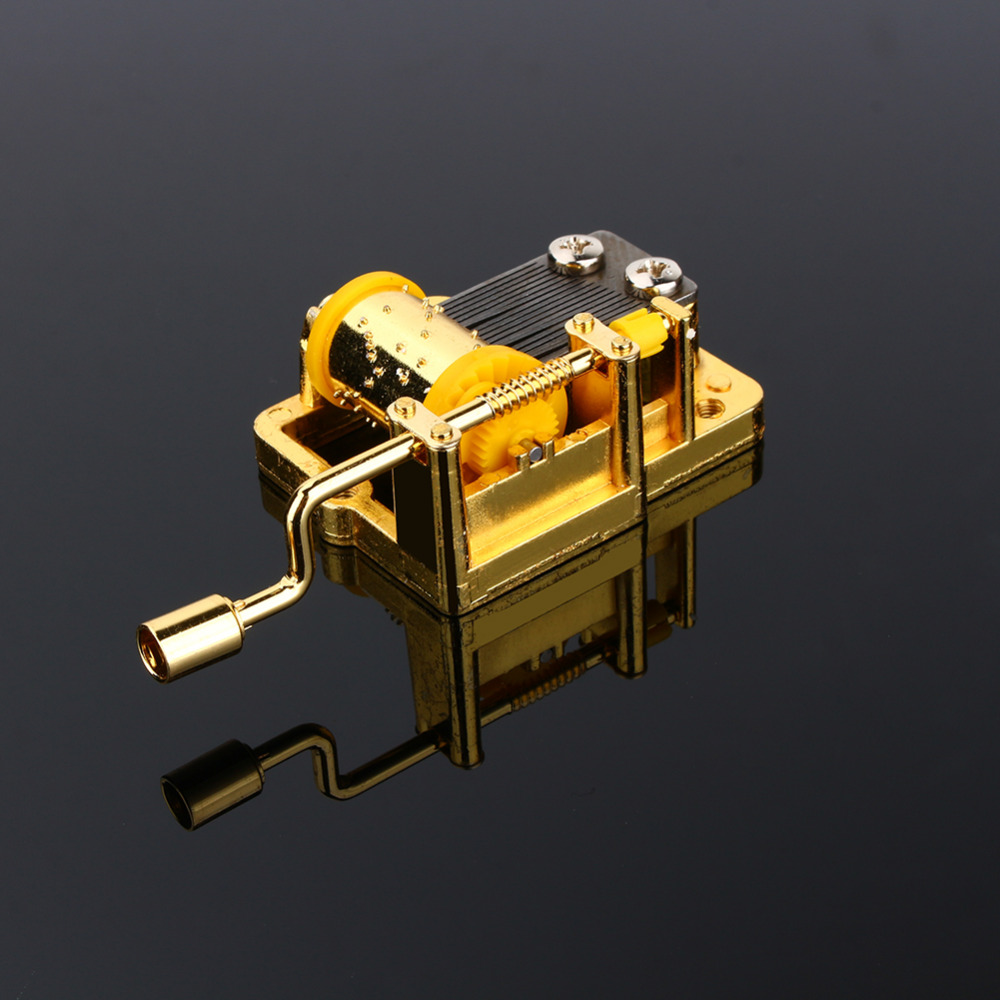 Cool 18 Notes DIY Mechanical Musical Box Golden Music Movement Set 5 Songs блендер philips hr 1633