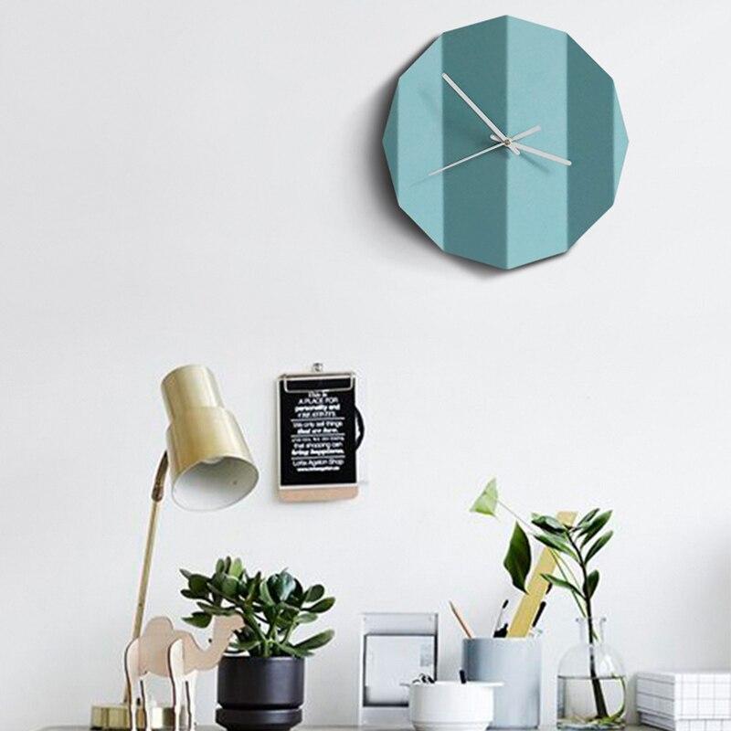 종이 접기 디자인 콘크리트 시계 실리콘 몰드 거실 장식 시멘트 시계 금형 침실 벽 석고 시계 실리콘 몰드-에서점토 몰드부터 홈 & 가든 의  그룹 2