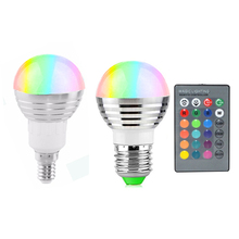 16 Color lamp Changing Spotlight LED RGB Bulb E14 E27 LED Lamp with 24 keys Remote control For brithday Home Decoration