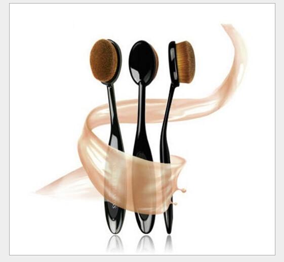 2016 новое поступление марка 1 шт. Pro косметика кисти для макияжа пудра зубная щетка кривый фонд кисть